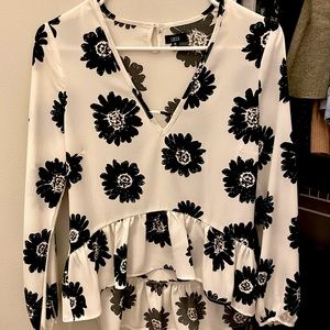 Lucca Couture Sunflower Peplum Top